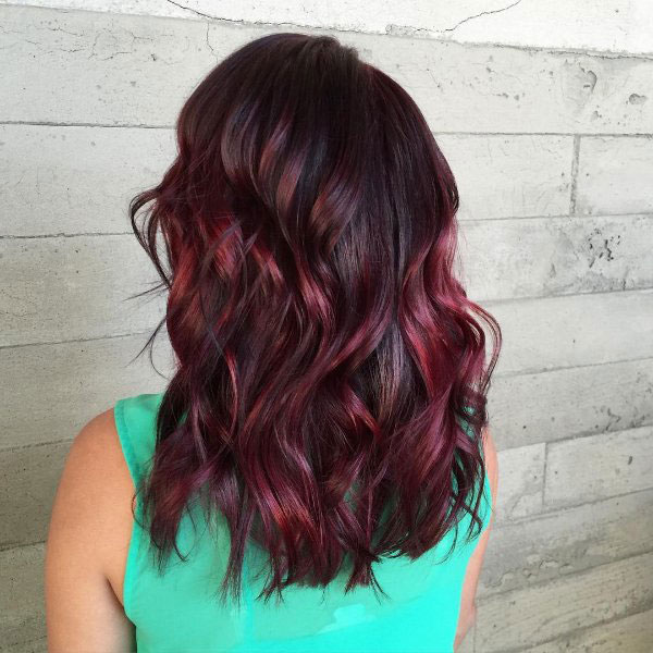 Beautiful Straight Hair Extensions Red Highlights With Black Hair